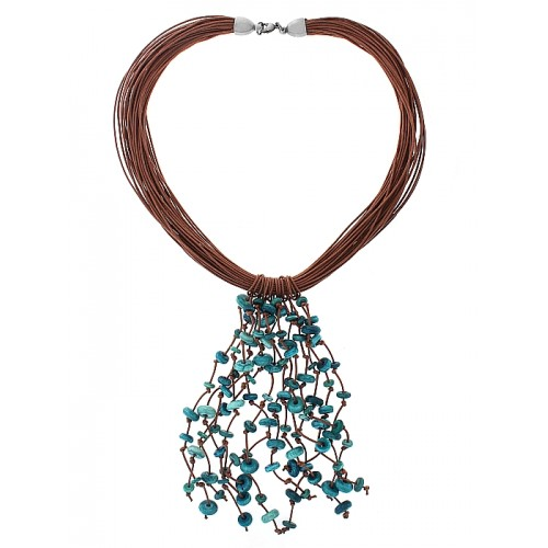 TURQUOISE SPRAY NECKLACE