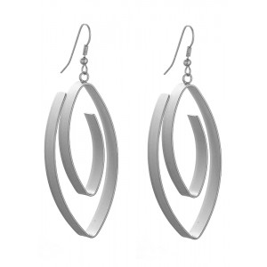 OVAL SPIRAL EARRINGS